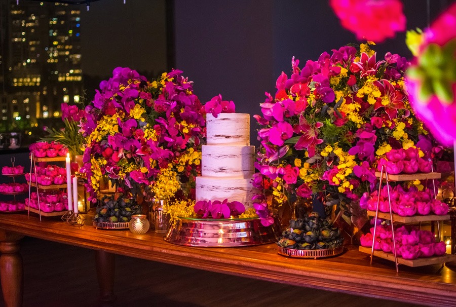 Festa de 15 anos - Decoração de mesa - Grupo Trio