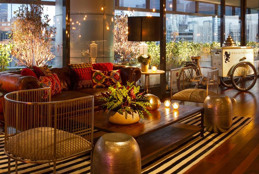 Decoração Lounge com Flores Trio Pérgola