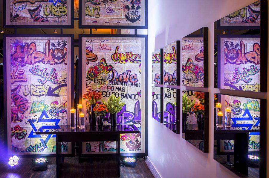 Decoração Street Art Bat Mitzvah PP Monti Trio Vila Olimpia