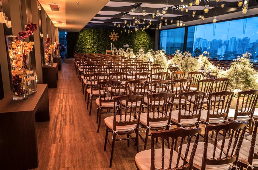 Decoração cerimônia de casamento PP Monti Trio One