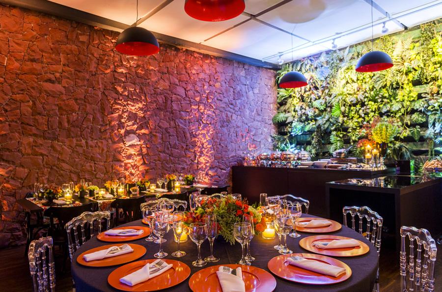 Decoração mesa de convidados casamento Trio Vila Olimpia