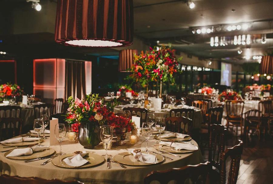 Decoração das mesas do casamento Grupo Trio