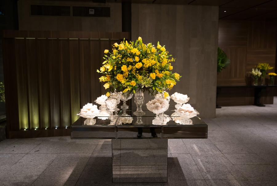 Mesa de bem-casado decorada casamento Trio Pérgola