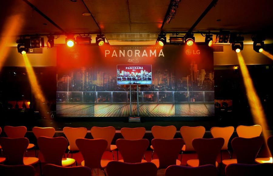 Evento corporativo LG Lançamento de Produto TV Panorama 4K Trio Pérgola