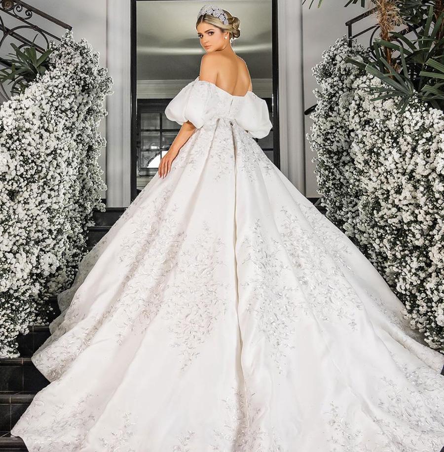 Vestido de Noiva Thássia Naves Inspiração Casamento Grupo Trio