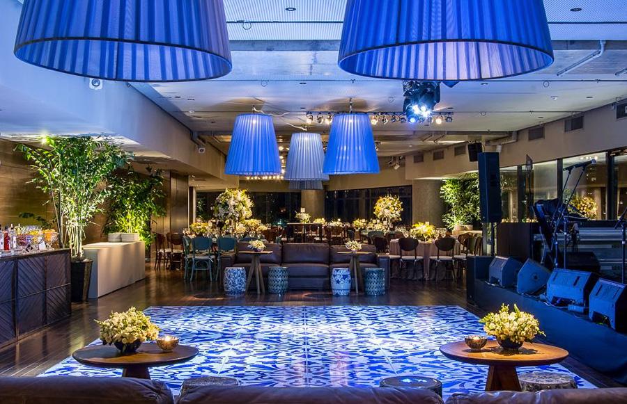 Pista de dança decoração azul Trio Pérgola