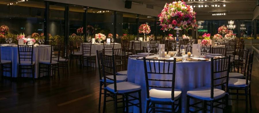 Mesa de convidados para casamento Grupo Trio
